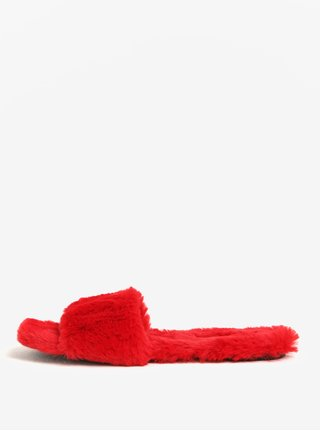 Papuci rosii de blana artificiala - ALDO Fofa