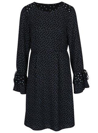 Čierne bodkované šaty so zvonovými rukávmi VERO MODA Dragana