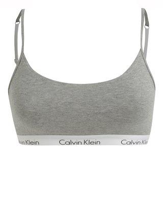 Sivá melírovaná podprsenka Calvin Klein Underwear