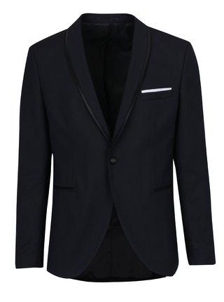Tmavomodré oblekové sako s prímesou vlny Selected Homme Done-Tux