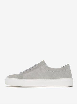 Pantofi sport gri din piele naturala intoarsa pentru femei -  Royal RepubliQ