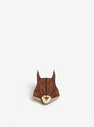 Drevená brošňa v tvare veveričky BeWooden Squirrel Brooch