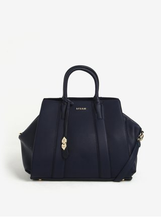 Tmavomodrá kabelka s detailmi v zlatej farbe Bessie London