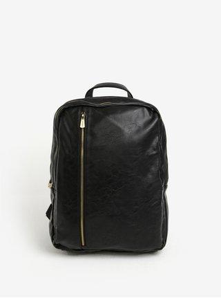 Čierny batoh so zipsami v zlatej farbe Bobby Black