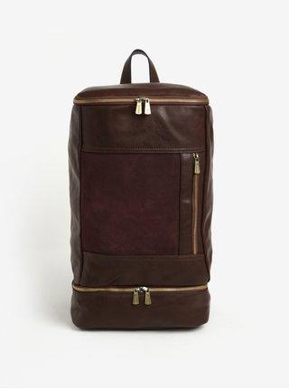 Tmavě hnědý pánský velký batoh Bobby Black