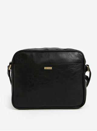 Čierna taška cez rameno s detailmi v zlatej farbe Bobby Black