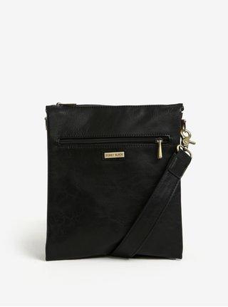 Čierna crossbody taška so zipsom v zlatej farbe Bobby Black