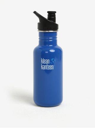 Tmavomodrá nerezová fľaša Klean Kanteen Kid Classic 532 ml