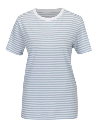 Tricou alb&albastru in dungi Selected Femme MyPerfect