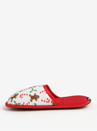 Papuci de casa cu print de Craciun Slippsy