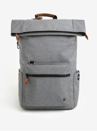 Světle šedý žíhaný voděodolný batoh PKG