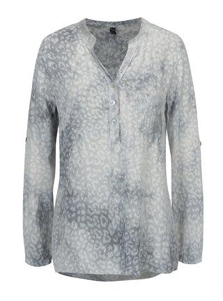 Bluza gri cu animal print si paiete - Madonna