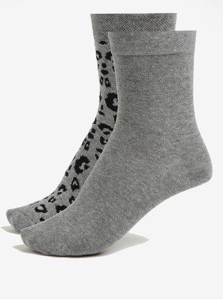 Súprava dvoch párov dámskych ponožiek v sivej farbe JELL