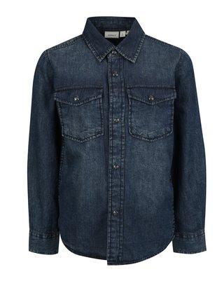 Modrá klučičí džínová košile name it Turner