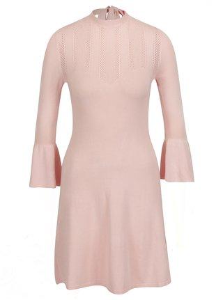 Rochie pulover roz pal cu maneci clopot  Miss Selfridge
