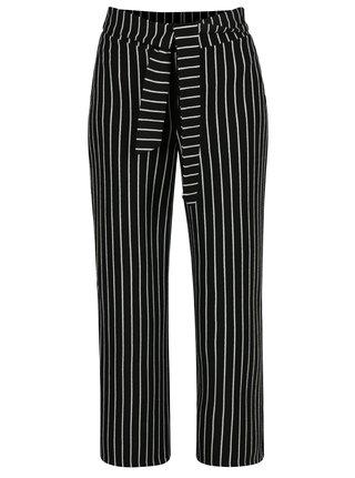 Černo-bílé pruhované kalhoty Miss Selfridge Petites