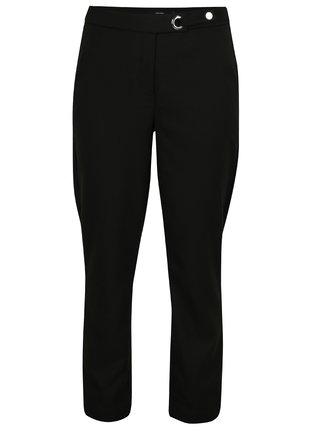 Čierne skrátené nohavice s vysokým pásom VERO MODA Rony