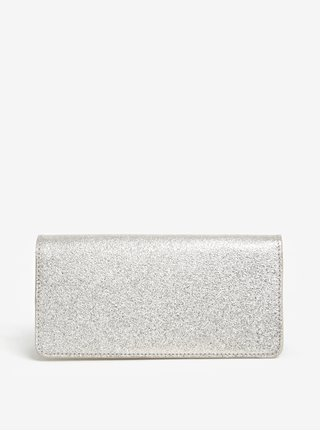 Dámská kožená třpytivá peněženka ve stříbrné barvě ELEGA Amina