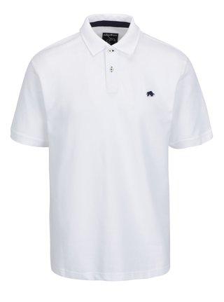 Bílé polo tričko s výšivkou loga Raging Bull