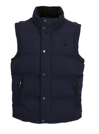 Tmavě modrá prošívaná zimní vesta Raging Bull