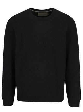 Tmavosivá pánska mikina s výšivkou Calvin Klein Jeans Hyperon