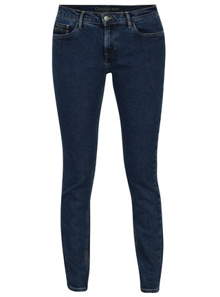 Tmavě modré dámské skinny džíny Calvin Klein Jeans Rise