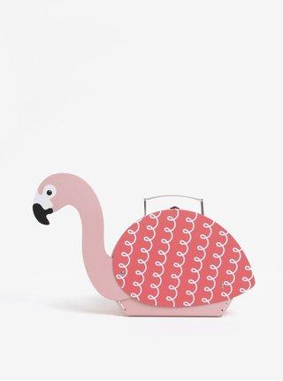 Růžový kufřík ve tvaru plameňáka Sass & Belle