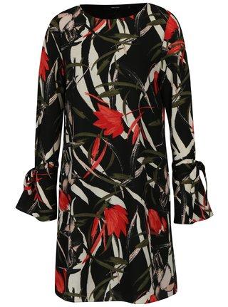 Čierne kvetované šaty VERO MODA Lihn