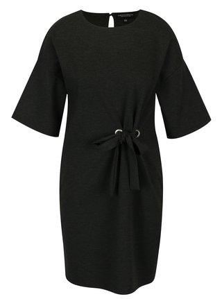 Tmavosivé šaty s mašľou Dorothy Perkins