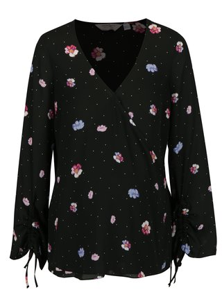 Bluza neagra cu print pentru femeile insarcinate - Dorothy Perkins Maternity