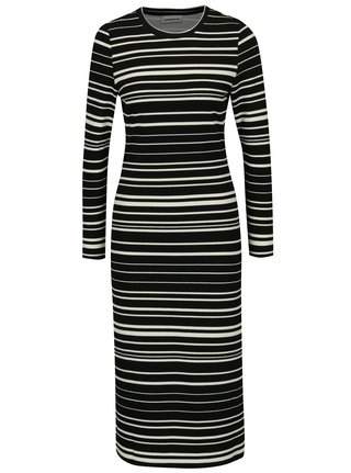 6d8cdd2a25a3 Krémovo-čierne pruhované šaty Noisy May Lina