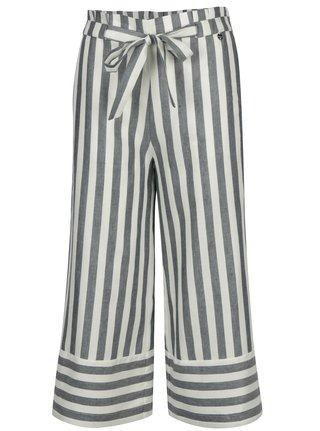 Pantaloni culottes cu model in dungi si cordon in talie - Rich & Royal