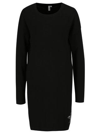 Čierne šaty s flitrami v tvare hviezdy QS by s.Oliver