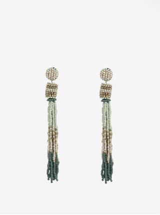 Zelené korálikové náušnice Pieces Venice