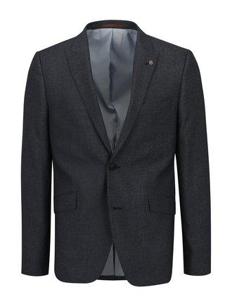 Sacou gri-albastru skinny cu model discret - Burton Menswear London