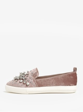 Pantofi slip on roz prafuit cu detalii decorative - Miss Kurt Geiger Lareina