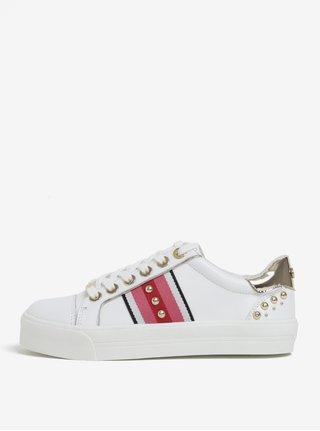 Pantofi sport crem din piele si platforma - Carvela Kurt Geiger Lax NP