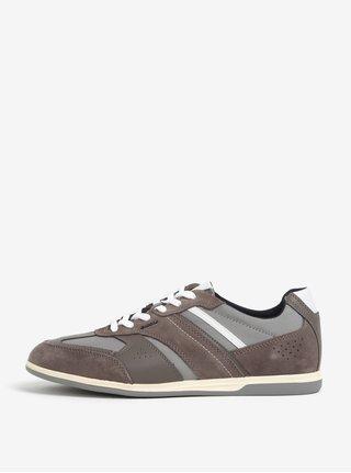 Pantofi sport maro din piele intoarsa pentru barbati Geox Renan