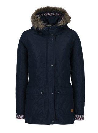 Tmavomodrá prešívaná funkčná bunda s kapucňou M&Co