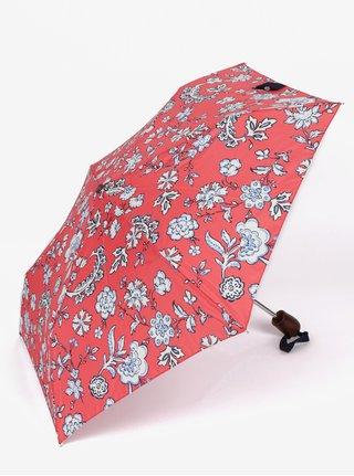 Umbrela rosie pliabila cu print floral - Tom Joule Brolly