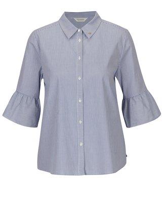 Bielo-modrá oversize pruhovaná košeľa s 3/4 rukávom Scotch & Soda