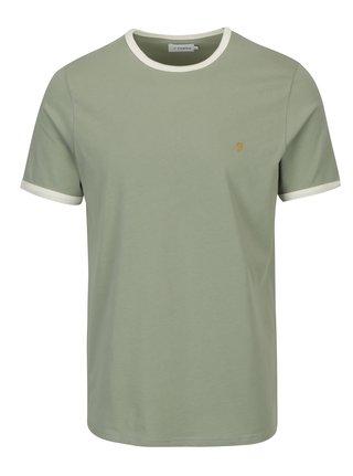 Tricou verde deschis cu logo brodat - Farah Groves