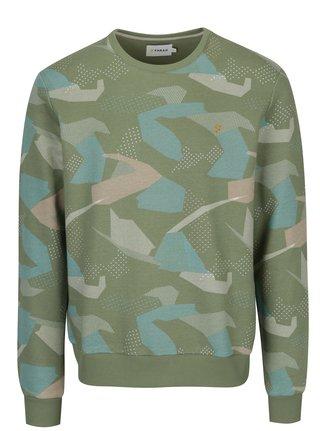 Bluza verde deschis cu print army abstract Farah Fierly