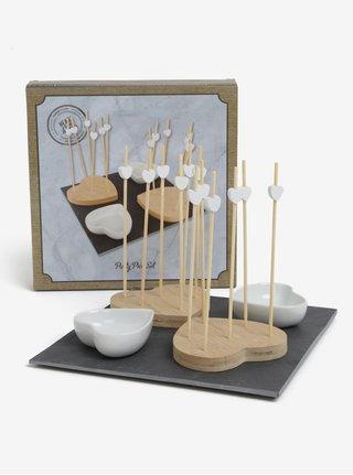 Set de patru suporturi pentru aperitive in forma de inimi SIFCON