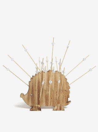 Drevený držiak na špáratká v tvare ježka SIFCON