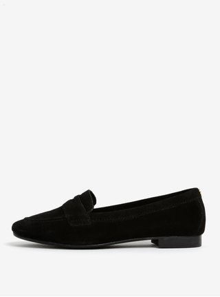 Čierne semišové mokasíny Dune London Loafer