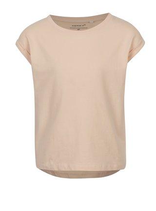 Růžové holčičí tričko s krátkým rukávem name it Vilda