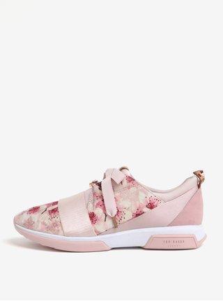 Pantofi sport roz cu print floral - Ted Baker Cepap