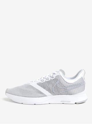 Sivo-biele pánske tenisky Nike Zoom Strike Running