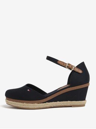 Tmavě modré sandály na klínku Tommy Hilfiger